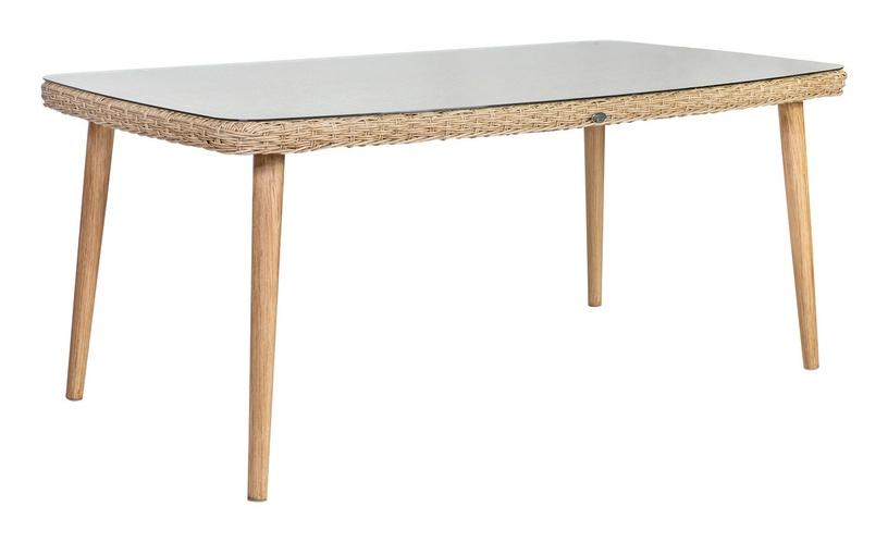 Home4you Retro Garden Table Natural Rattan
