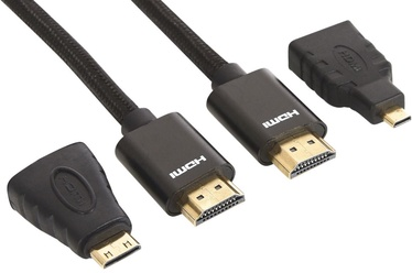 Sandberg Adapter Cable HDMI/HDMI-mini to HDMI/HDMI-micro Black 2m