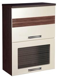DaVita Rio 16.08 Kitchen Upper Cabinet Wenge Oak/Pearl