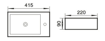 Praustuvas ACB9033, 41,5 x 22 x 90 cm