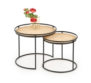 Halmar Manado Coffee Tables Natural/Black