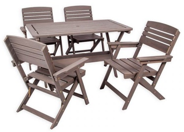 Folkland Timber Folding Garden Set Heini 4 Graphite