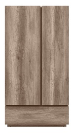 Black Red White Anticca 2D1S Wardrobe Monument Oak