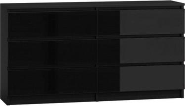 Kumode Top E Shop Malwa M6 Gloss Black, 138x40x77 cm