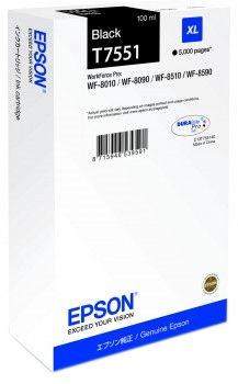 Rašalinio spausdintuvo kasetė Epson T7551 XL Black