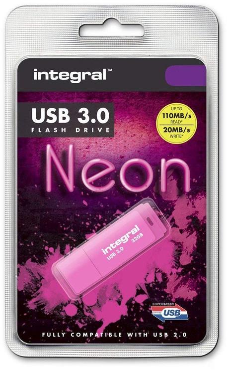 USB-накопитель Integral Neon 32GB USB 3.0 Pink