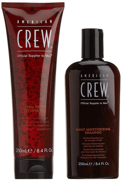 Šampoon + juuksegeel American Crew Moisturizing Shampoo 250ml +250ml Firm Hold Styling Gel