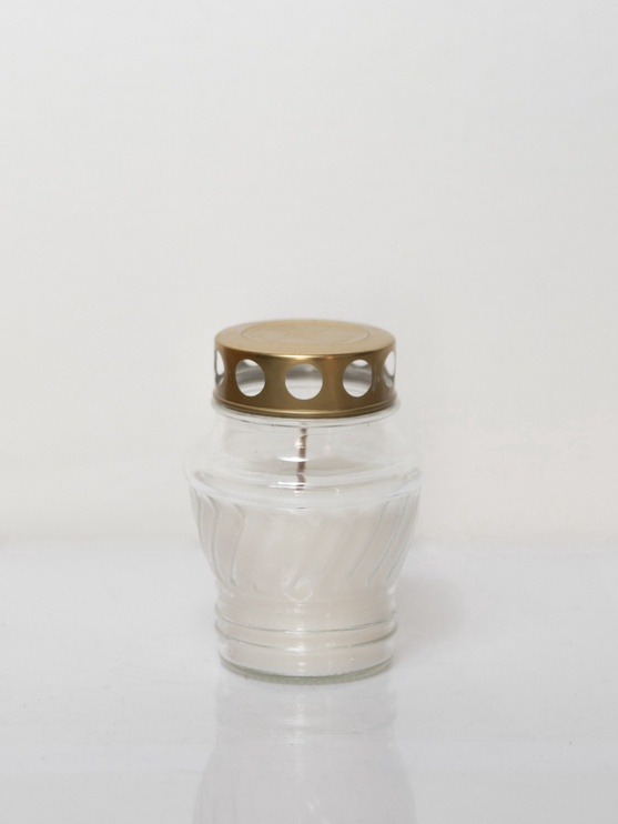 SN Tomb Candle D8xH12cm White