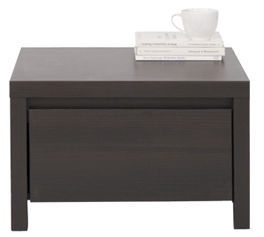 Black Red White Kaspian Night Stand KOM1S Wenge