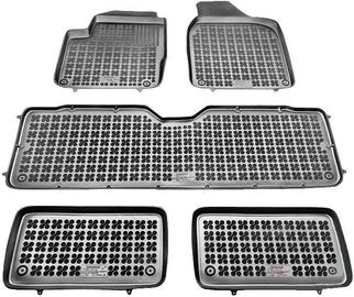 Gumijas automašīnas paklājs REZAW-PLAST Seat Alhambra 7 Seats 1995-2010, 5 gab.