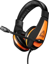 Ausinės Canyon CND-SGHS1 Lightweight Comfortable Gaming Headset Black/Orange