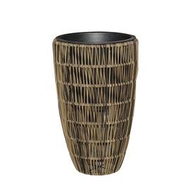 Home4you Wicker Flowerpot D30x48cm Brown