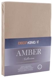 Простыня DecoKing Amber, коричневый, 160x200 см, на резинке