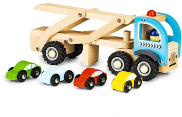 EcoToys Wooden Truck & 4 Cars