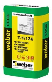 Cementinis kalkinis tinkas Weber T-1/136, 25 kg