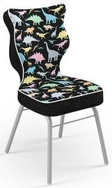 Детский стул Entelo Solo Size 4 ST30, черный/многоцветный, 340 мм x 775 мм