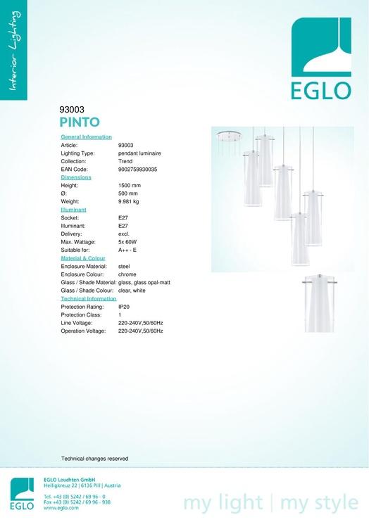 Eglo Pinto 93003
