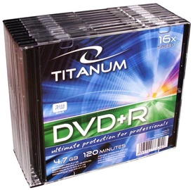 Esperanza 1291 Titanum DVD+R 16x 4.7GB Slim Jewel Case 10pcs