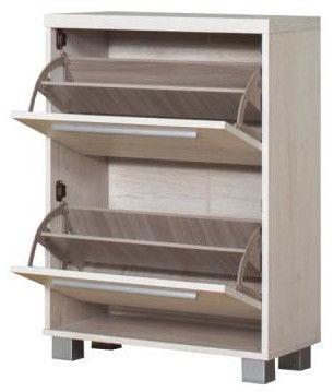 Bodzio Shoe Cabinet Panama PA60 Pearl Sonoma Oak