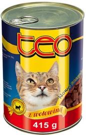 Konservuotas ėdalas katėms Teo, su jautiena, 415 gr