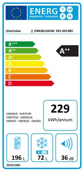Iebūvējams ledusskapis Electrolux ENN2812AOW