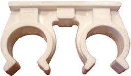 Capricorn Double Pipe Holder White 22mm