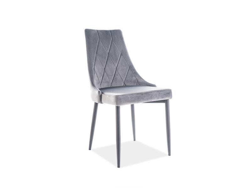 Стул для столовой Signal Meble Trix B Velvet Grey