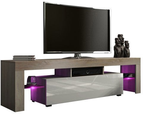 TV galds Pro Meble Milano 160, brūna/pelēka, 1600x350x450 mm