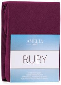 Palags AmeliaHome Ruby, ķiršu, 160x200 cm, ar gumiju