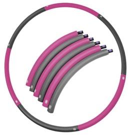Vingrošanas loks SportVida foldable, 900 mm, 0.7 kg, pelēka/violeta