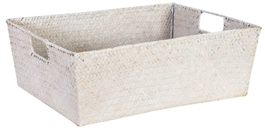 Home4you Basket 2 Petra 37x28x14cm White