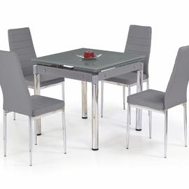 Pusdienu galds Halmar Kent Grey/Chrome, 800 - 1300x800x760 mm