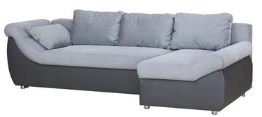 Bodzio Rojal Corner Sofa Right Velor Eco Leather Grey