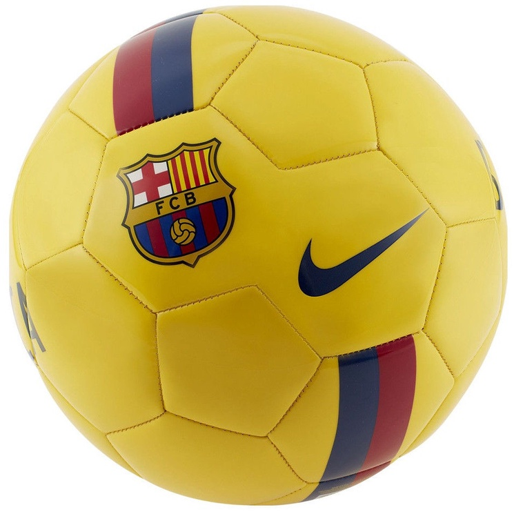 Nike FC Barcelona Supporters Ball Yellow Size 4