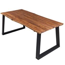 Pusdienu galds VLX Solid Acacia Wood 325295, brūna, 1700 mm x 900 mm x 750 mm