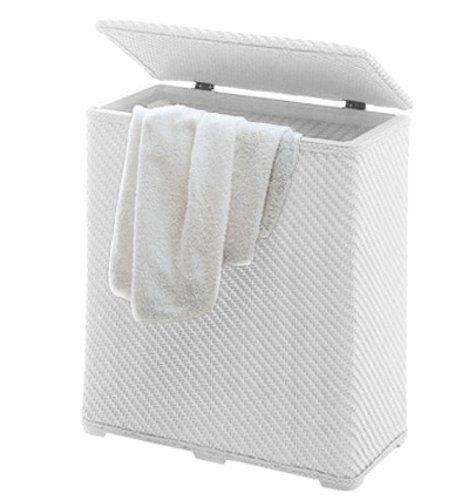 Gedy Ambrogio Laundry Basket White 2038-02