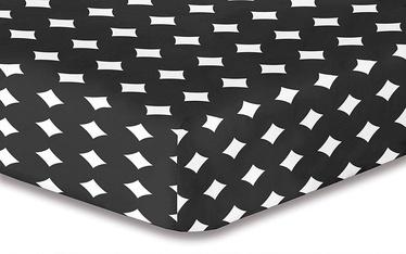 Palags DecoKing Hypnosis, melna, 220x240 cm, ar gumiju