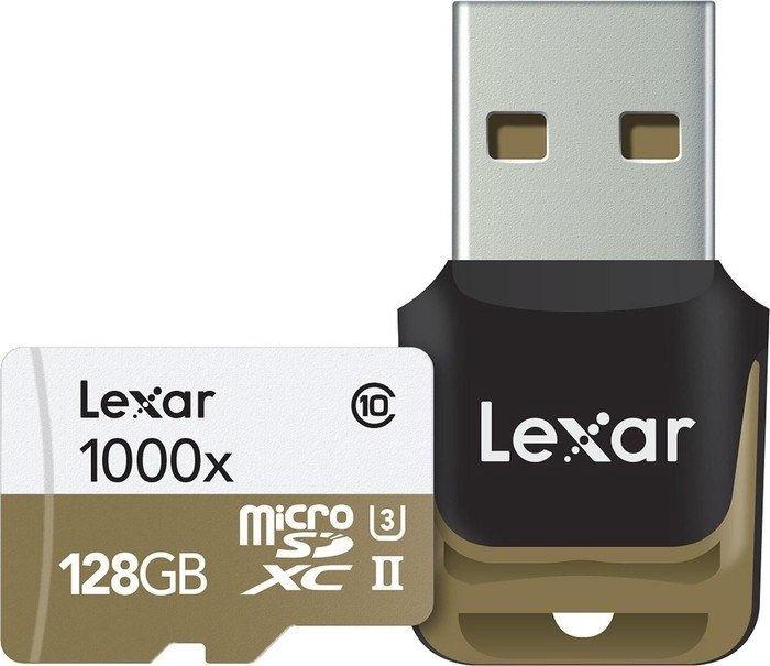 Lexar 128GB Micro SDXC UHS-II 1000x U3 Class 10 + USB Reader