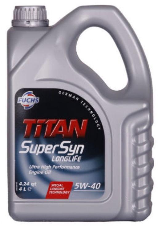Fuchs Titan SuperSyn 5W40 Engne Oil 4L