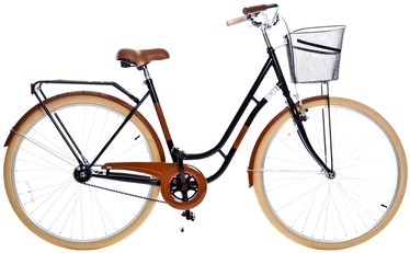Dviratis Grunberg Holland Single Speed 28 Black/Brown 16