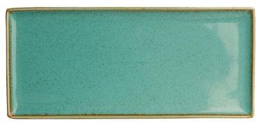 Porland Seasons Serving Plate 16.1x35.3cm Turquoise