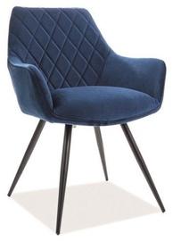 Signal Meble Linea Velvet Chair Blue