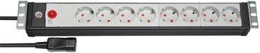 "Brennenstuhl Premium-Line 19"" Extension Socket 8-way Black/Gray 3m"