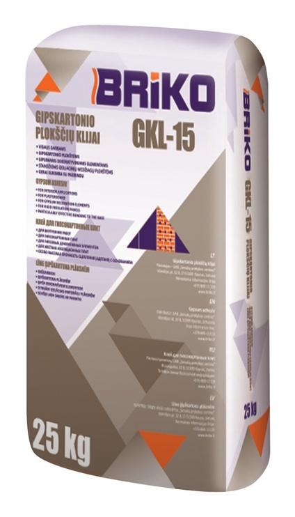 Gipskartonio plokščių klijai Briko GKL-15, 25 kg