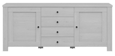 Black Red White Amsterdam Chest Of Drawers 40x178x75cm Grey