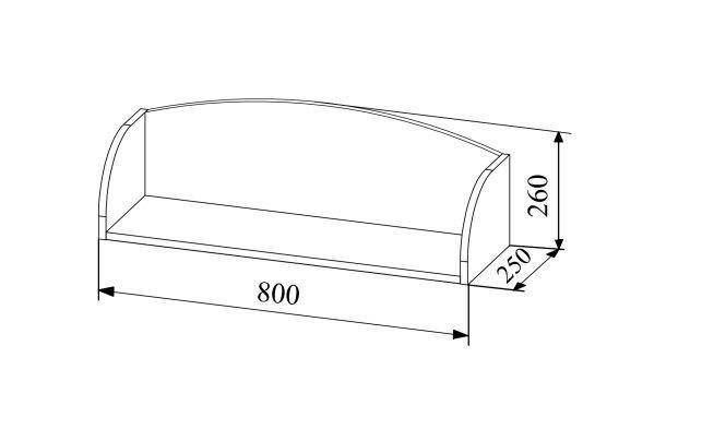 MN Junga PLD 800.1 Wall Shelf White Gloss/Beige