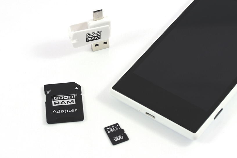 GoodRam M1A4 16GB microSDHC Class 10 + Adapter + USB Reader