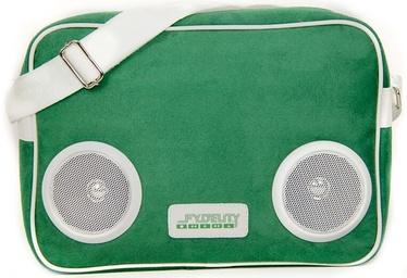 Fydelity Classic G-Force Shoulder Bag with Speakers Green