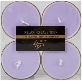 Home4you Teacandles Maxi Chic Relaxing Lavander 4pcs