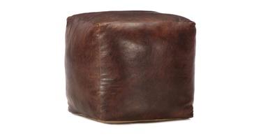Пуф VLX Genuine Goat Leather 248127, коричневый, 45 см x 45 см x 45 см